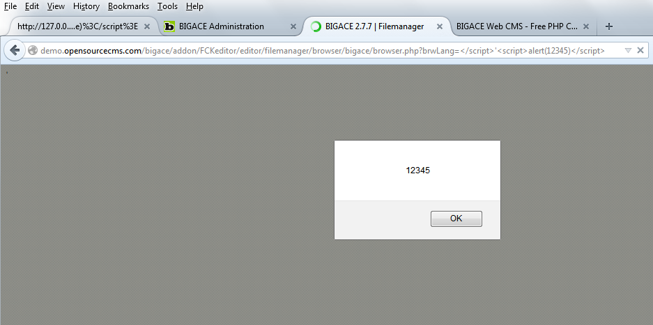 BigAce <= 2 7 8 FCKEditor XSS vulnerability   LOCU'S STUFF